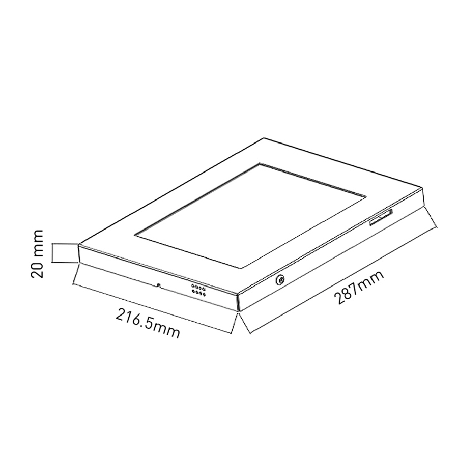 Tablet schutzgeh use schloss wandhalterung halterung - Wandhalterung fur tablet ...