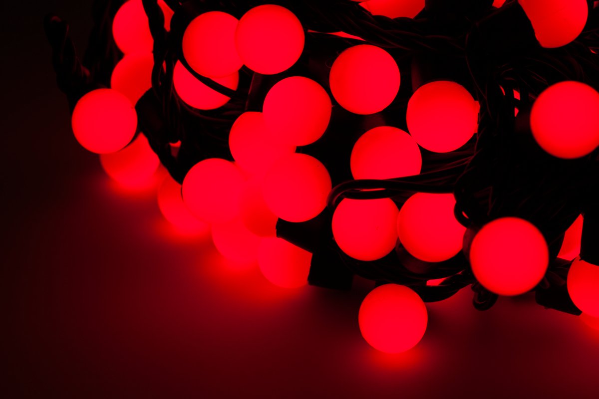 lichterkette kugelkette innen weihnachts beleuchtung 100 led 10m weihnachten ebay. Black Bedroom Furniture Sets. Home Design Ideas