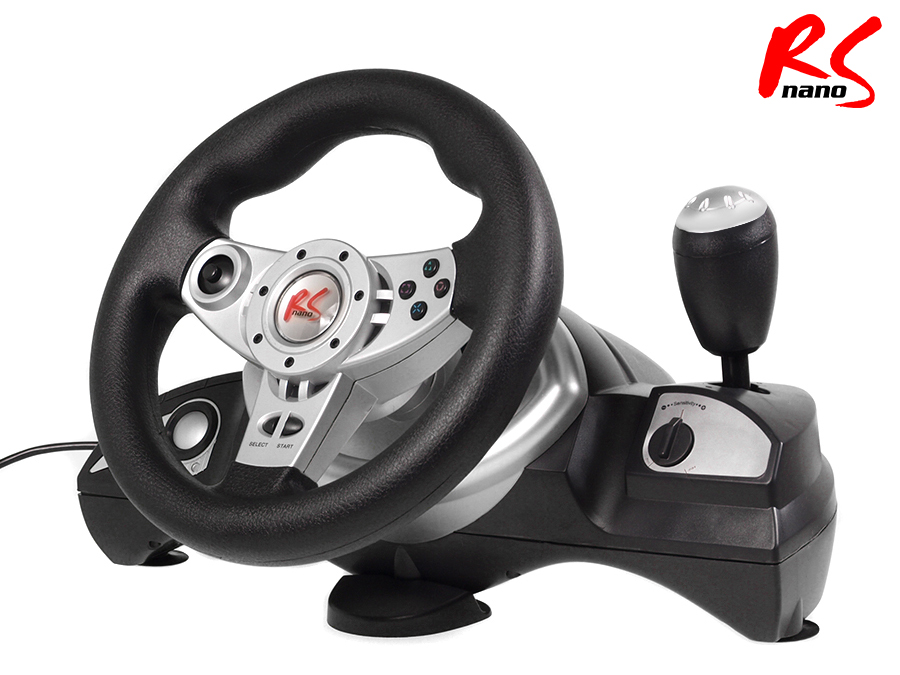 lenkrad rs bremspedale pedale steering wheel vibration feedback pc ps2 ps3 usb ebay. Black Bedroom Furniture Sets. Home Design Ideas