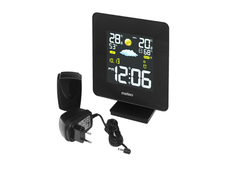 sp52 wetterstation mit au ensensor thermometer display funk dcf wettervorhersage ebay. Black Bedroom Furniture Sets. Home Design Ideas