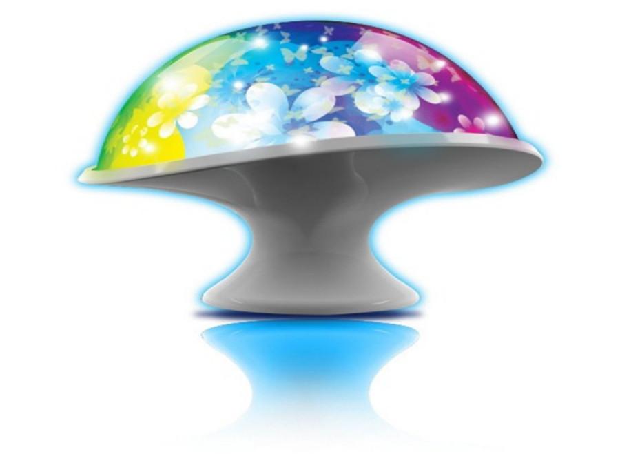 Dumel Lampada Fungo con Proiettore Fiori e Farfalle per Bambini Multicolore  eBay