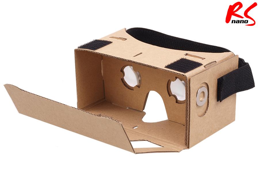 3d vr brille google googles cardboard aus karton f r. Black Bedroom Furniture Sets. Home Design Ideas