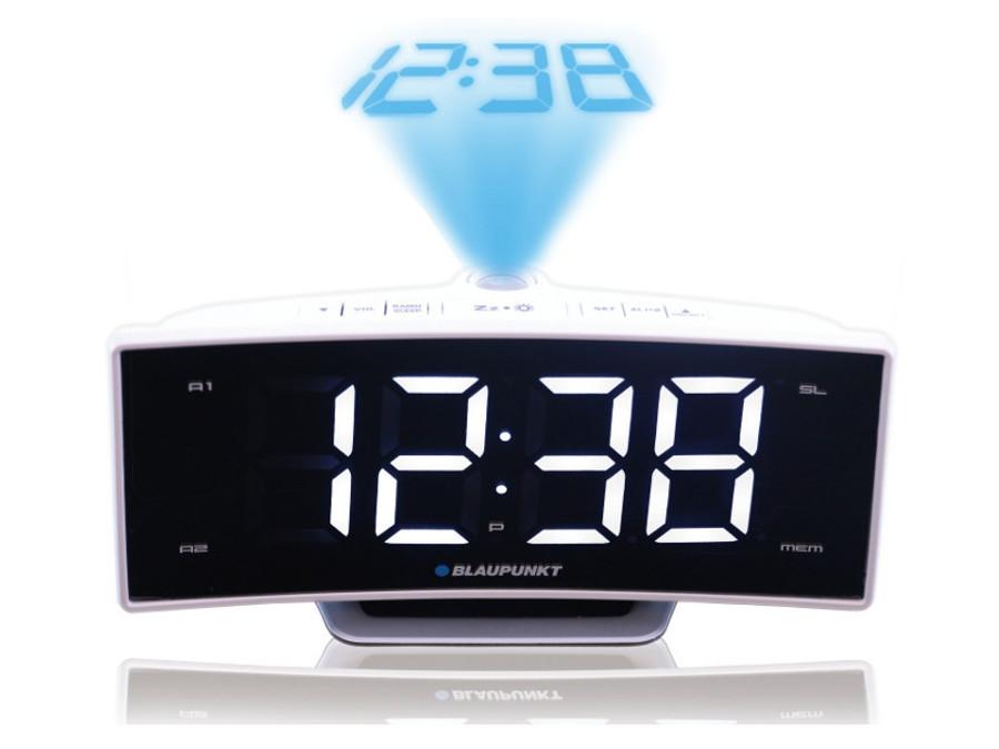 blaupunkt crp7wh fm radio r veil avec projecteur lcd 10 station lectrom nager. Black Bedroom Furniture Sets. Home Design Ideas