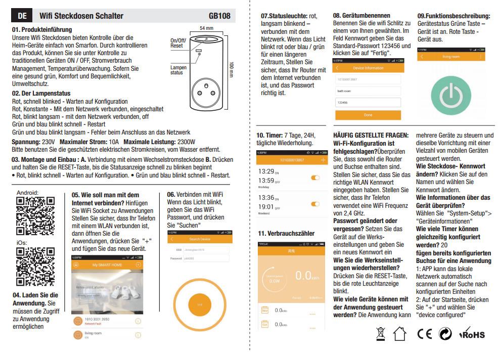 smart wifi steckdose app fernbedienung zeitschaltuhr schalter f r ios android ebay. Black Bedroom Furniture Sets. Home Design Ideas