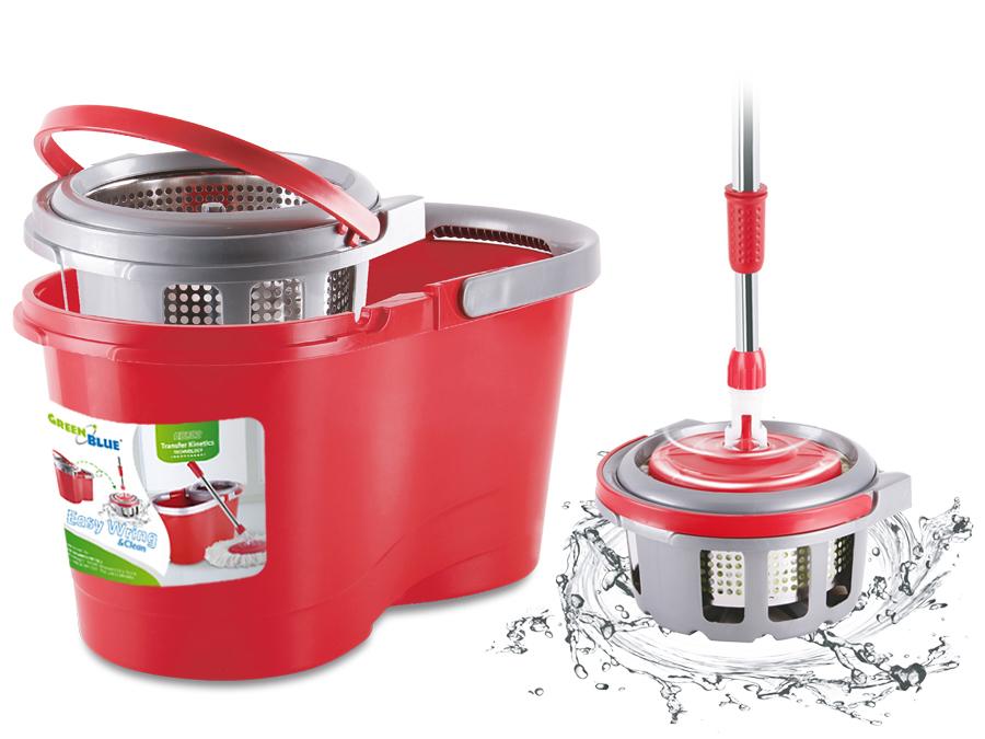 Mop rotante lavapavimenti microfibra secchio con for Lavapavimenti elettrico