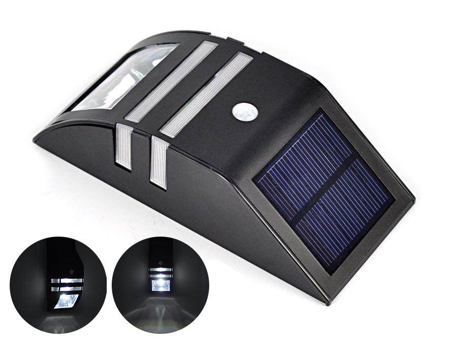 Aplique led pared exterior luz solar inhalambrica sensor - Aplique solar exterior ...