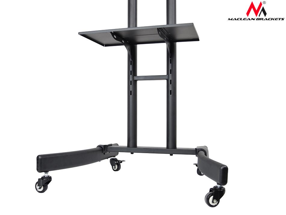 fernsehwagen mc 718 tisch auf rollen tv rack fernsehtisch schwarz neigbar tv. Black Bedroom Furniture Sets. Home Design Ideas