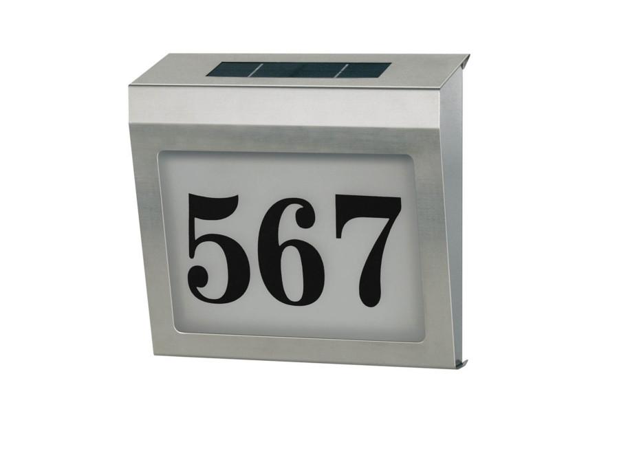 brennenstuhl 1179810 solar led illuminated house number stainless. Black Bedroom Furniture Sets. Home Design Ideas