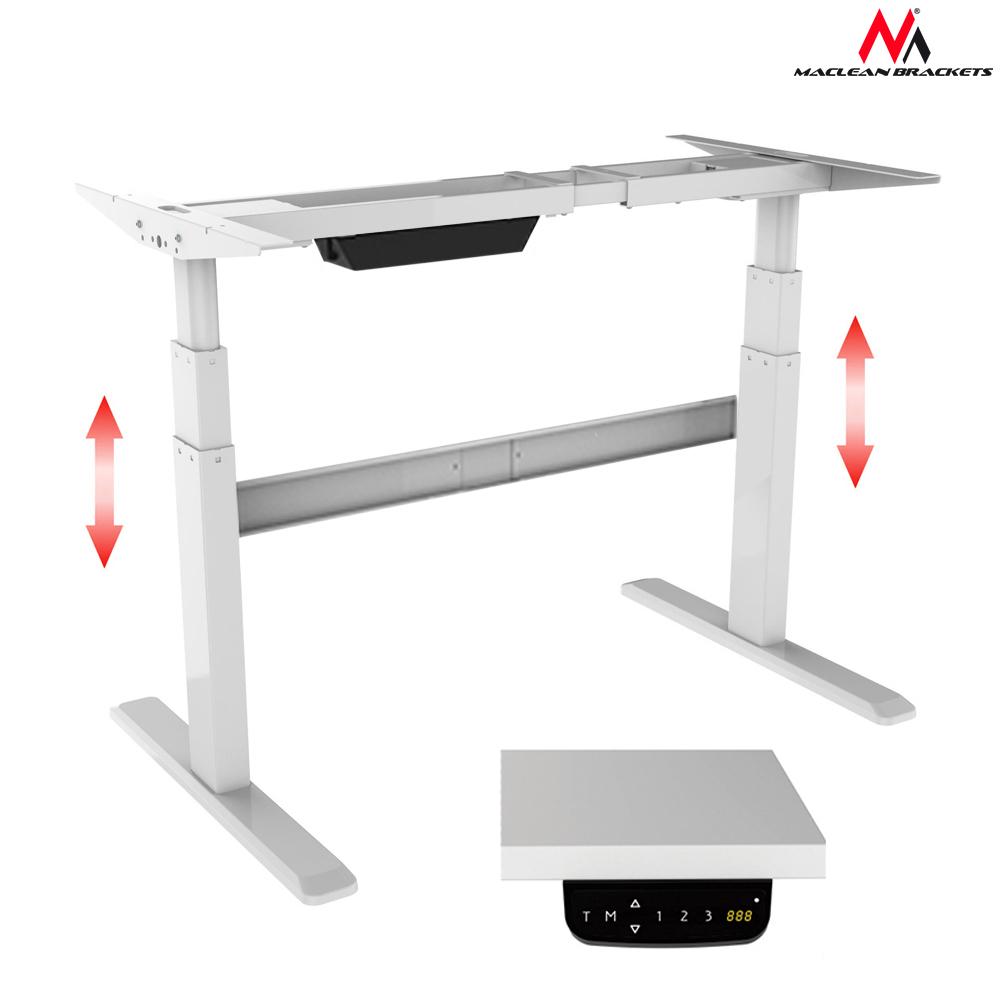 tischgestell elektrischer h henverstellbarer schreibtisch mc 725 maclean ebay. Black Bedroom Furniture Sets. Home Design Ideas