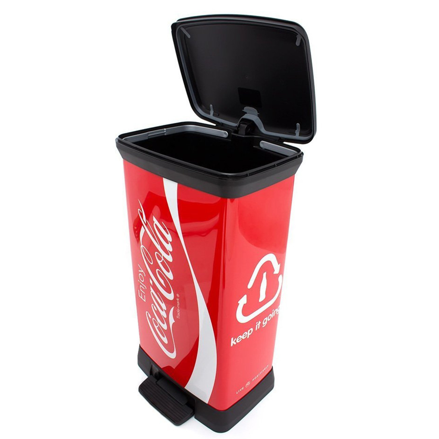 coca cola abfalleimer 50 liter curver eimer m lleimer 50. Black Bedroom Furniture Sets. Home Design Ideas