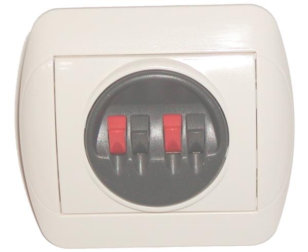 prise pour deux haut parleurs deux interrupteurs audio. Black Bedroom Furniture Sets. Home Design Ideas
