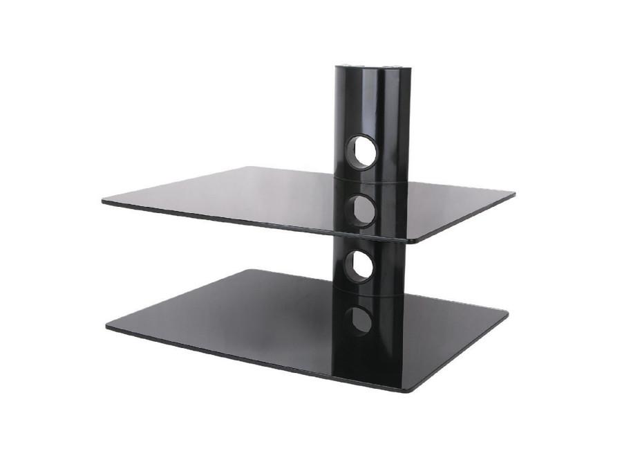 Podwójna półka szklana pod DVD konsolę tuner Art
