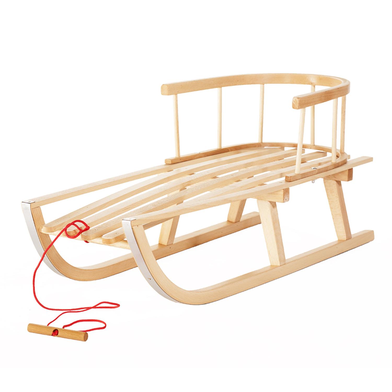 Enfants Traineau en bois Dossier Traineau en bois Luge pour enfant 90/cm enfants jouet