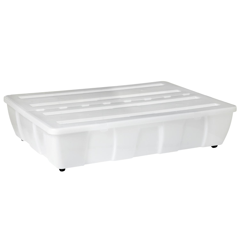 beh lter aufbewahrungsbox aufbewahrungsbeh lter kunststoff plastikkiste 66 liter ebay. Black Bedroom Furniture Sets. Home Design Ideas
