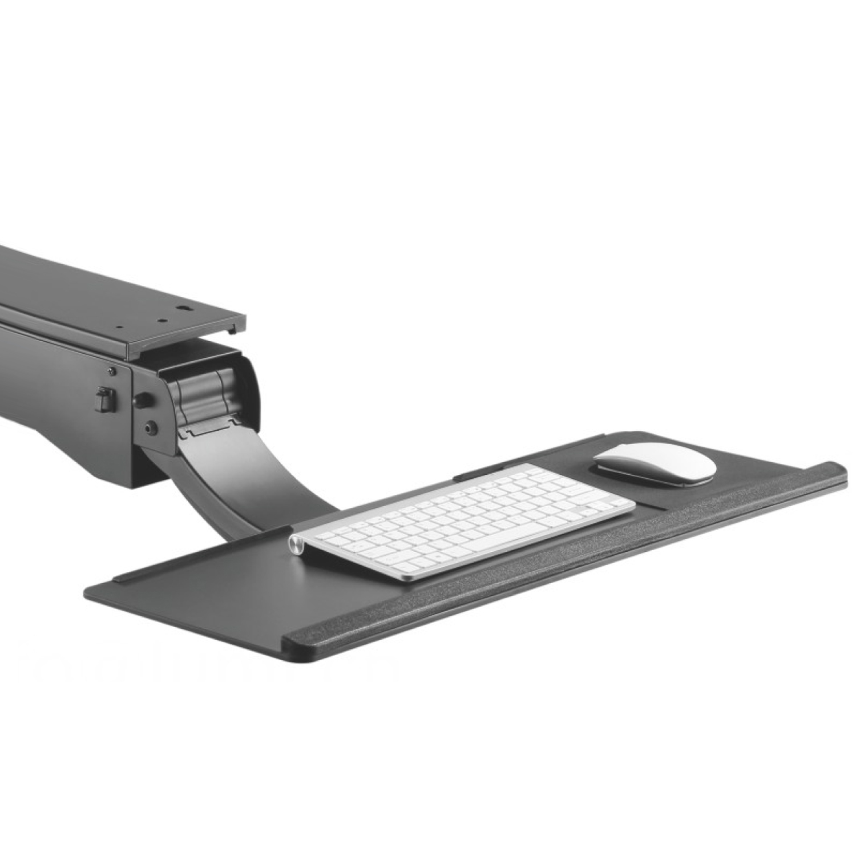 SCHWARZ Tastaturauszug Computertisch Tastatur Schreibtisch Keyboardauszug GRAU