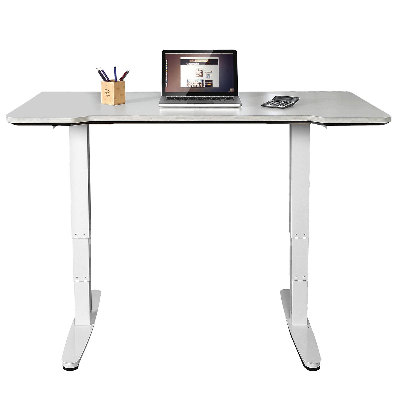 Picture of: Electric Desk Frame Base Adjustable Height Standing Workstation Home Office Uk Ebay
