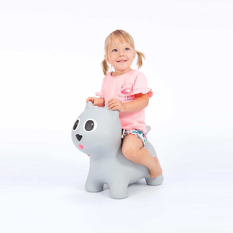 Jouet à sauter Chat Gonflable Tootiny Gris Rose Noir Cadeau pour enfant Noel