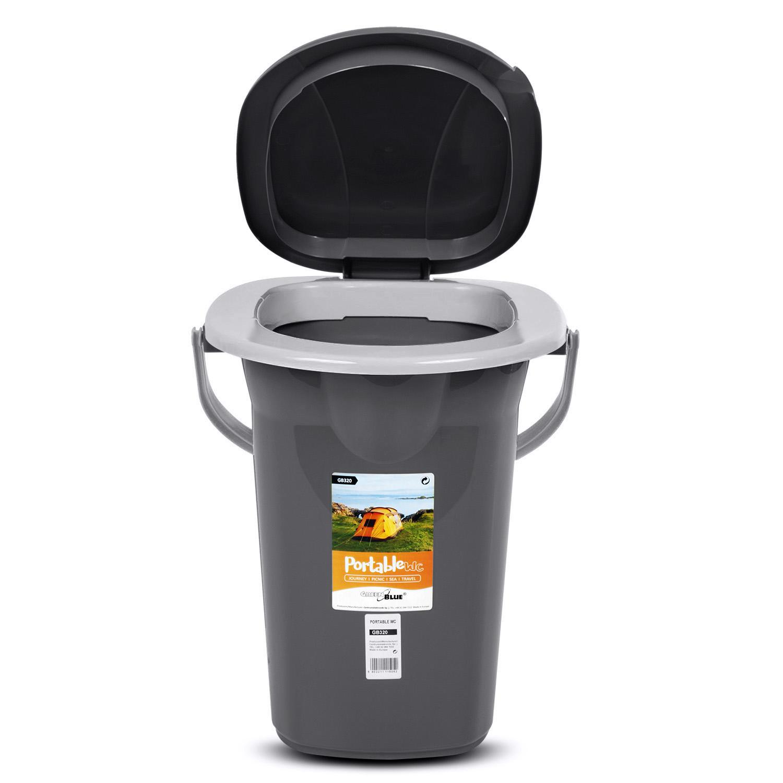 Toilette WC touristique portable 19L GreenBlue GB320AG anthracite