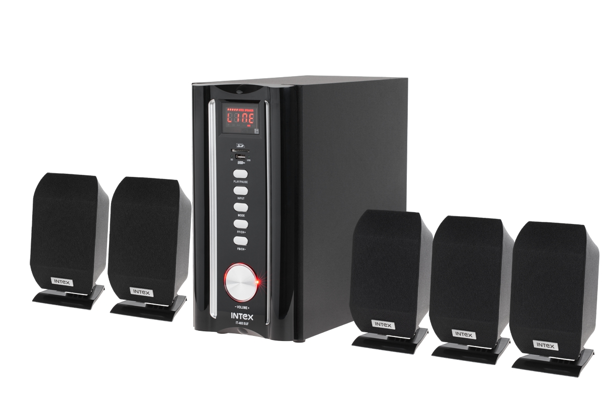 lautsprecher set mit 5 lautsprchern 80w rms usb sd karte. Black Bedroom Furniture Sets. Home Design Ideas
