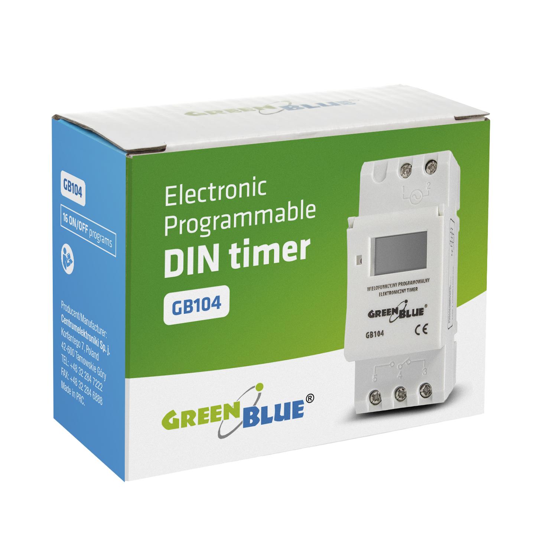 Programador el ctrico temporizador digital semanal diario for Programador electrico digital