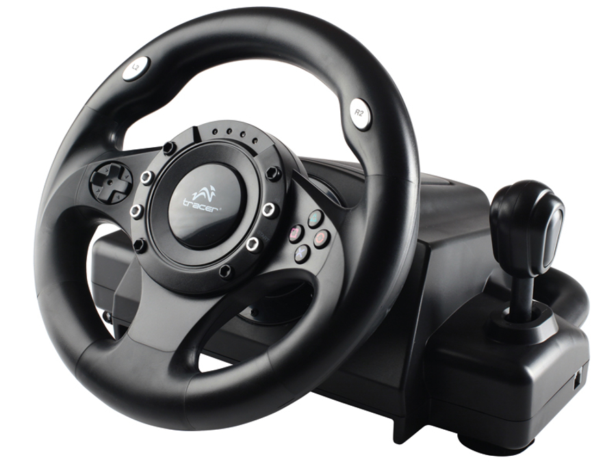 gaming steering wheel gearbox pedals vibrations pc ps2 ps3 usb ebay. Black Bedroom Furniture Sets. Home Design Ideas