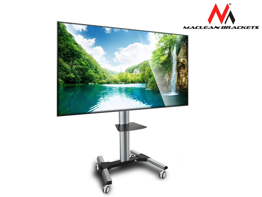 tv bodenst nder tragbar tv standfuss st nder halter halterung lcd led alu top 5903292802015 ebay. Black Bedroom Furniture Sets. Home Design Ideas