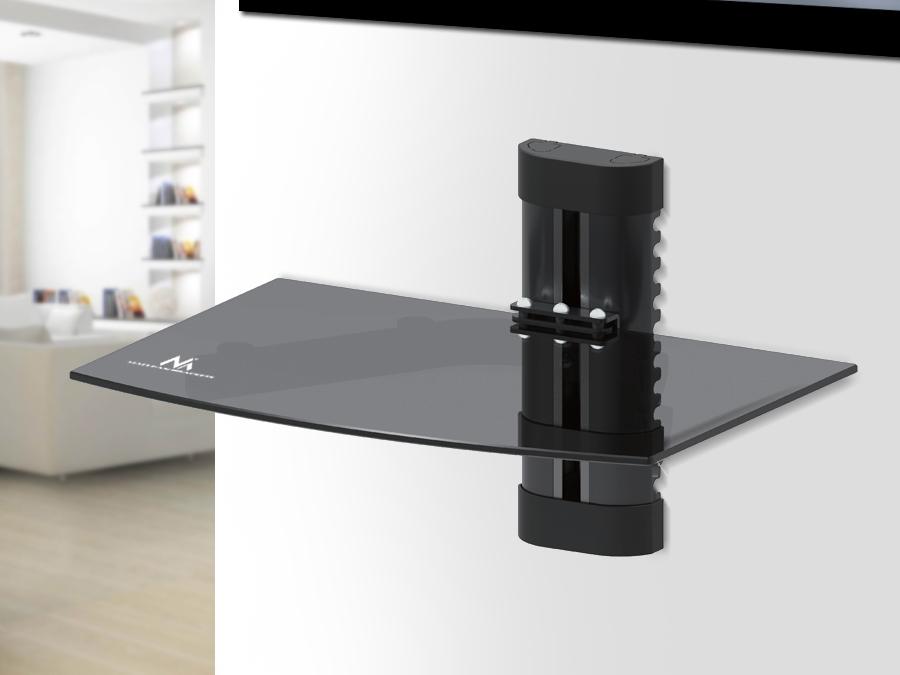 hifi glasregal wandregal glasablage wandhalterung. Black Bedroom Furniture Sets. Home Design Ideas