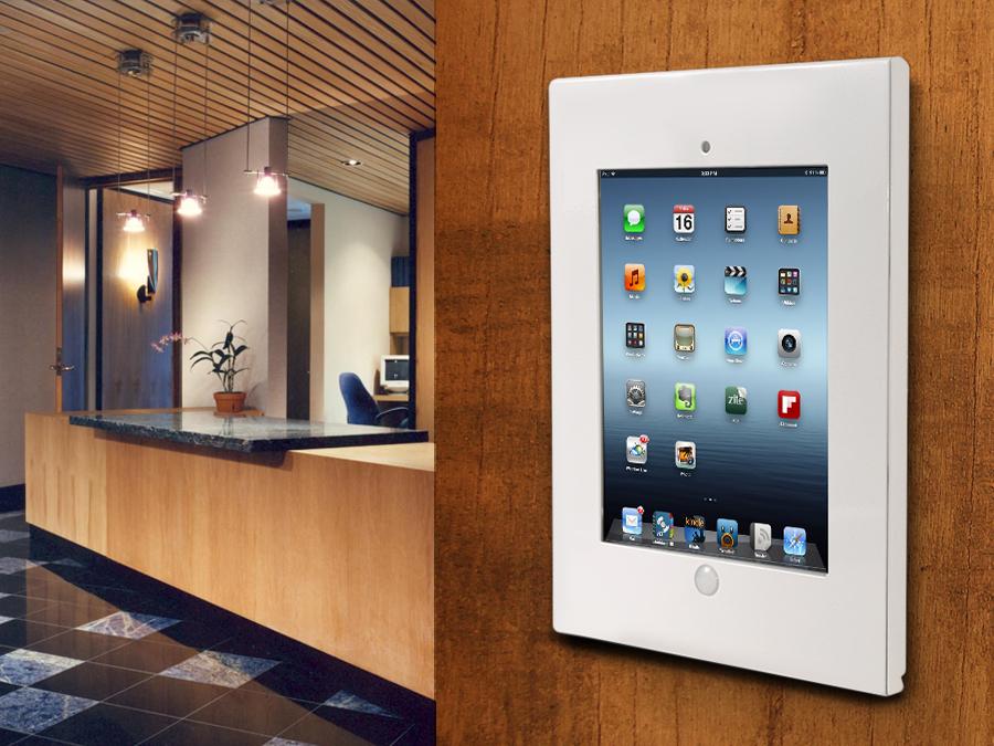 Supporto Tablet da Parete Tab Stand iPad 2//3//4//Air//Air2 Antifurto Maclean MC676