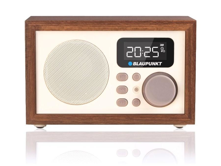 radio wecker retro anlage digital mit holzgeh use lcd fm mp3 microsd usb aux ebay. Black Bedroom Furniture Sets. Home Design Ideas