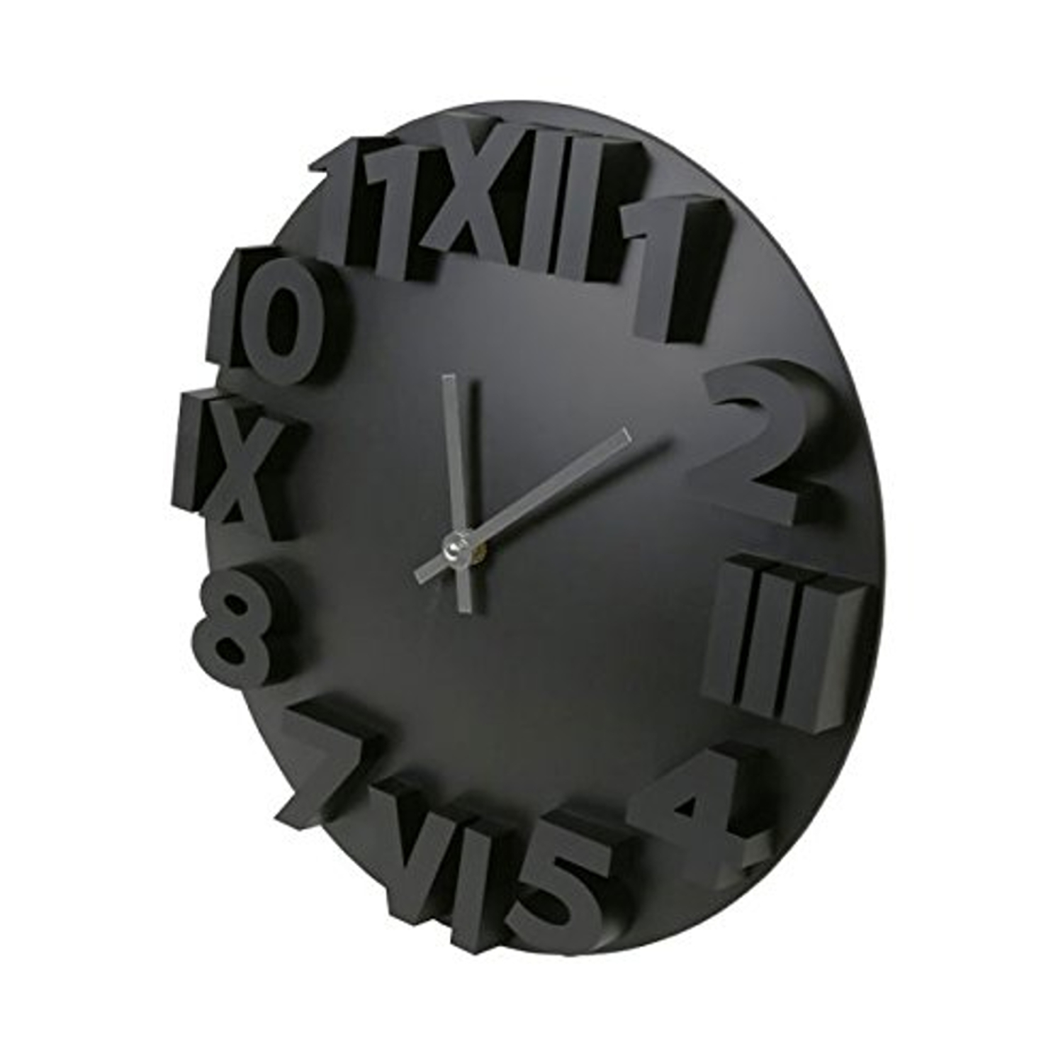 gro e wanduhr modern in zwei farben platinet wall clock. Black Bedroom Furniture Sets. Home Design Ideas