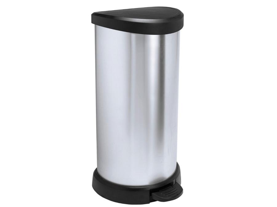 poubelle m tallis avec p dale 40l curver l ment int ressant lectrom nager ebay. Black Bedroom Furniture Sets. Home Design Ideas