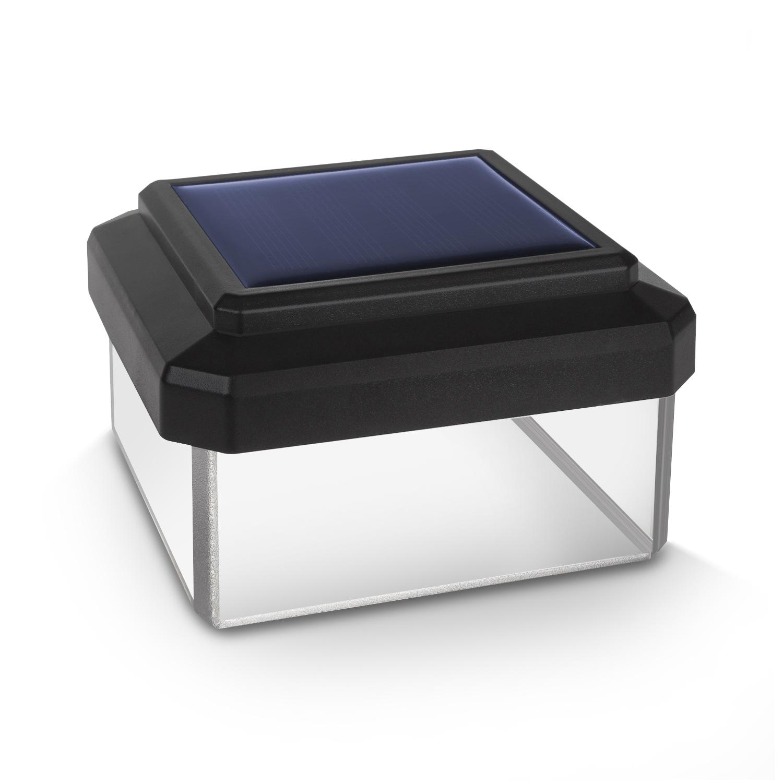 Greenblue gb127 lampe solaire led capuchon pour poteau de for Poteau led exterieur
