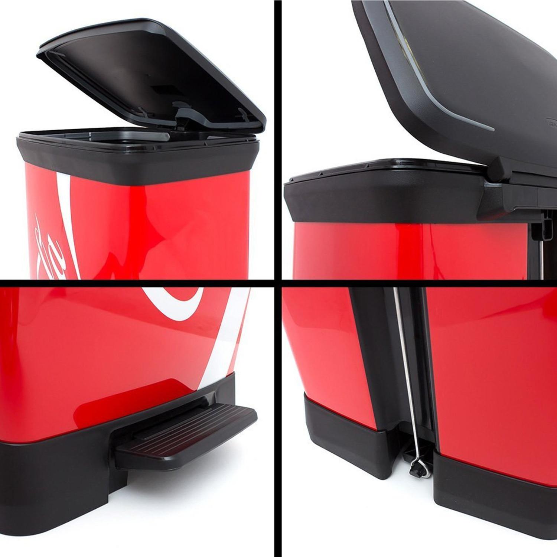 coca cola abfalleimer 50 liter curver eimer m lleimer 50 liter treteimer retro 3253922162289 ebay. Black Bedroom Furniture Sets. Home Design Ideas