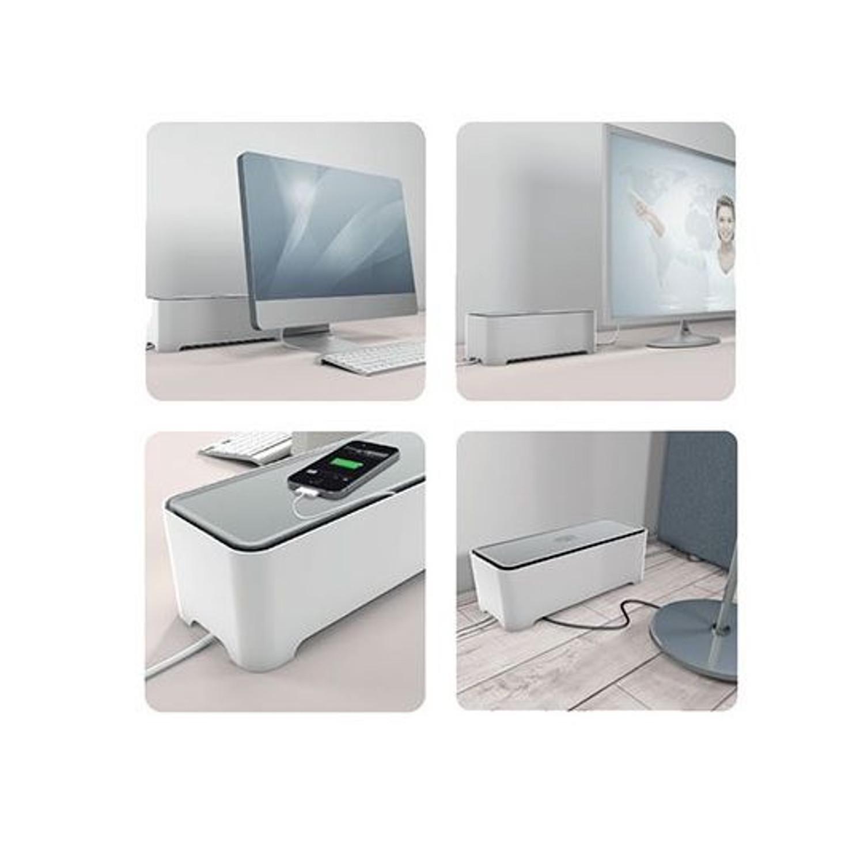 kabel box organizer manager steckdosen stecker cablebox allibert e box m neu ebay. Black Bedroom Furniture Sets. Home Design Ideas