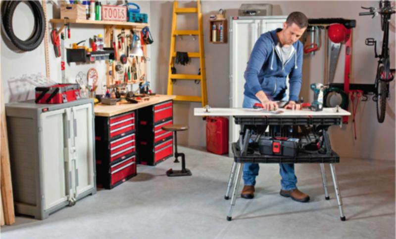 Ketec table de travail pliante curver pieds r glables en hauteur bricole ebay - Pieds reglables en hauteur ...