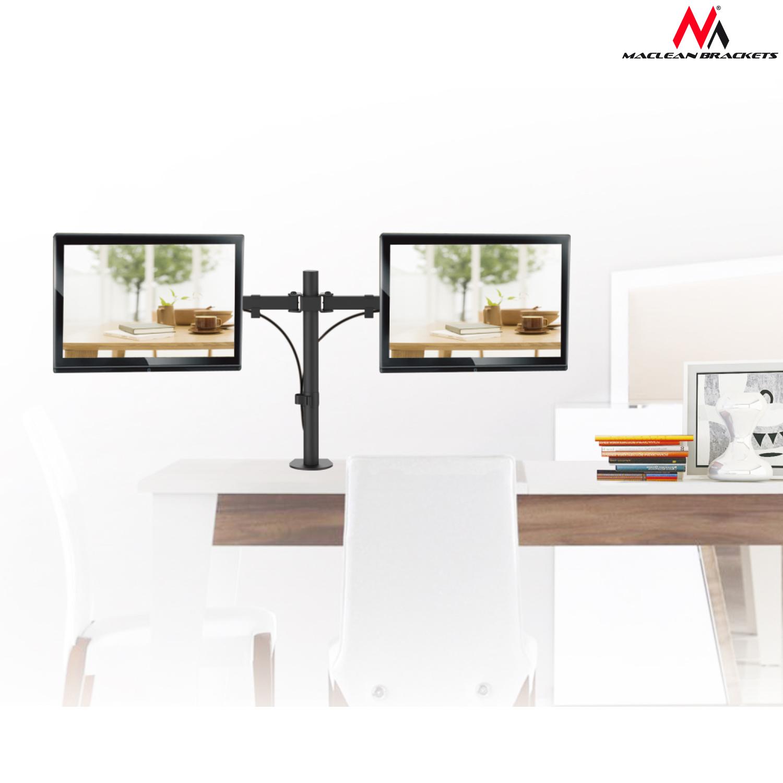 2 fache tischhalterung monitorarm 360 monitor halterung for Schreibtisch 45 grad