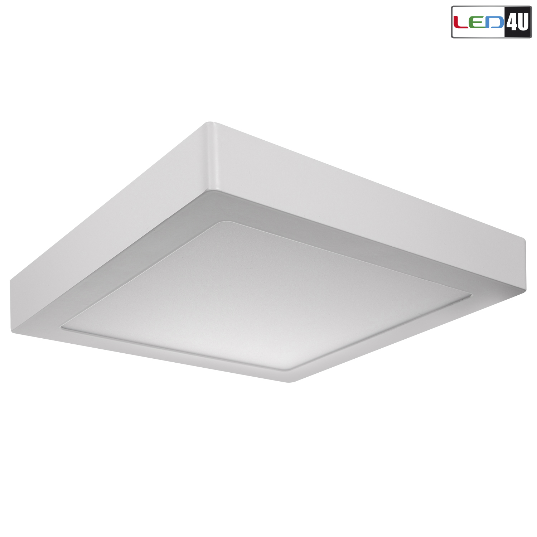 led4u led panel deckenlampe aufputz deckenmontage wandmontage 18w eckig lampe ebay