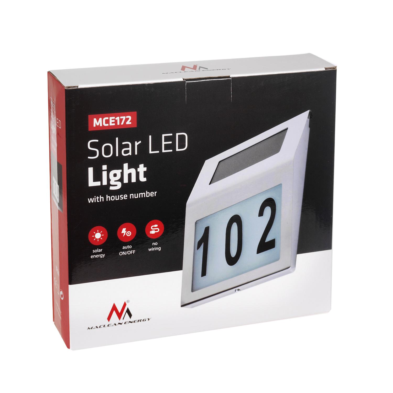 automatische solar hausnummer haus nr beleuchtung licht leuchte inkl aufkleber 5902211107064 ebay. Black Bedroom Furniture Sets. Home Design Ideas