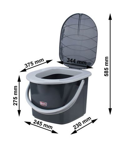 reise wc toilette campingtoilette eimer branq 15 5 l toiletteneimer zelten ebay. Black Bedroom Furniture Sets. Home Design Ideas