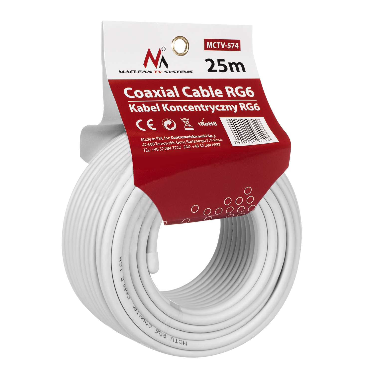 Maclean TV Systems MCTV-574 Coaxial cable 1.0CCS RG6 Satellite 75 ...