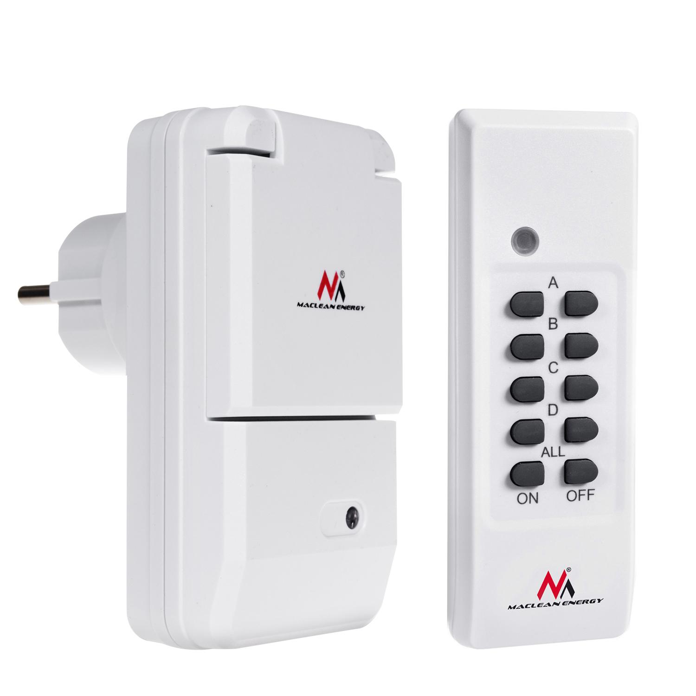 maclean energy mce158 alimentation 230v 50hz prise de r seau avec t l commande ebay. Black Bedroom Furniture Sets. Home Design Ideas