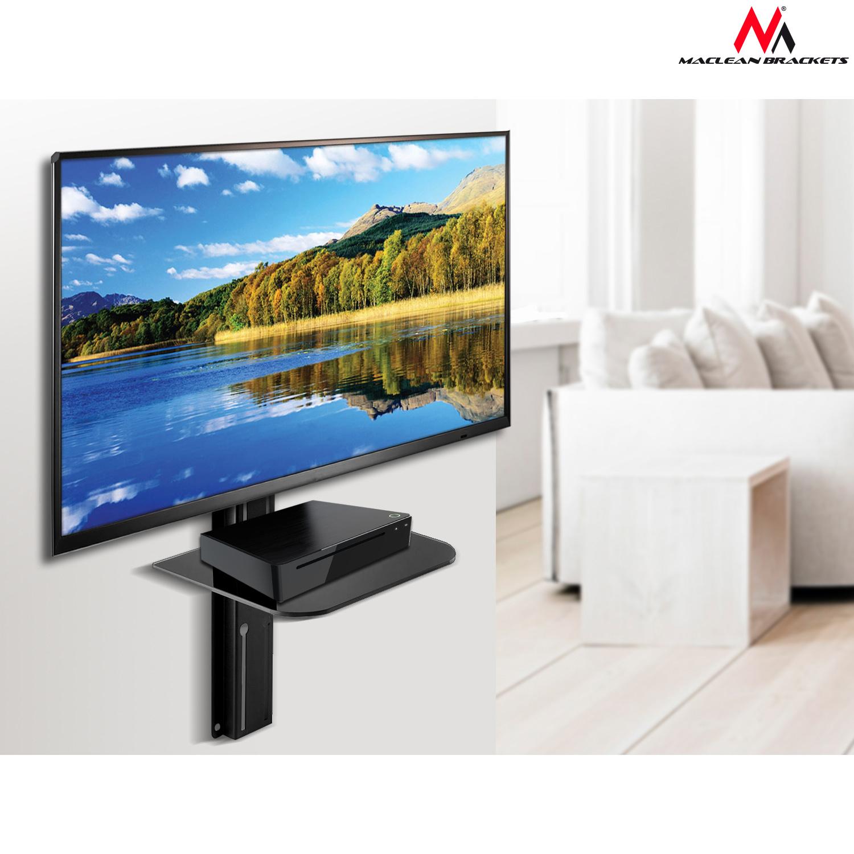 Maclean Mc 771 Support Tv 23 42 Avec Tag Re Pour Dvd 30kg Vesa  # Meuble Tv Avec Fixation Integree