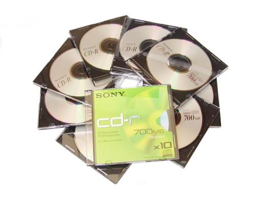 CD-R SONY 700MB 80min  W...