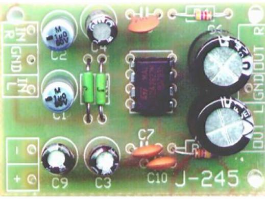 J-245 Miniaturowy wzmacniacz stereo z układem TDA2822