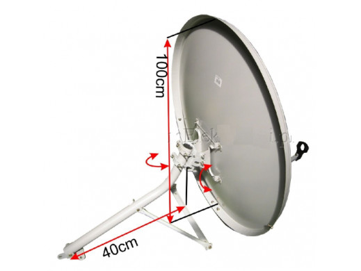 Antena satelitarna czasza 100cm z uchwytem do ściany Cabletech