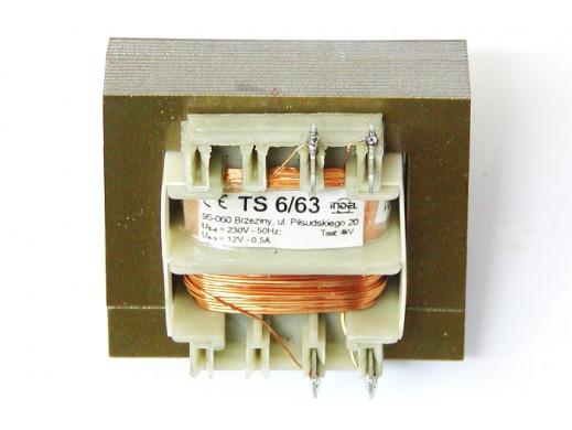 Transformator 12V/0,5A TS 6/63