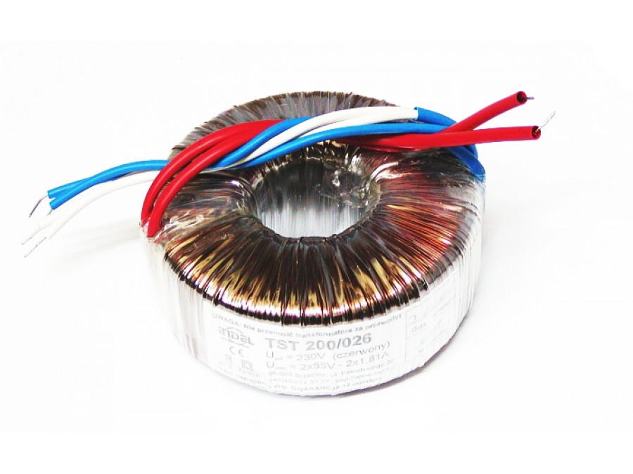 TRANSFORMATOR TST 200/026 230V/2*55V-2*1,81A 200W