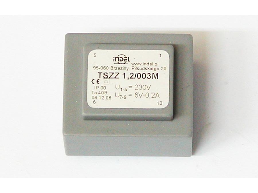 Transformator 6V 0,2A TSZZ1,2/003M montażowy
