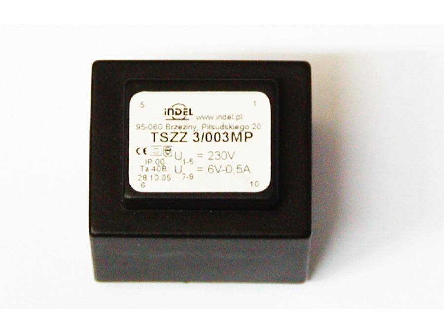 TRANSFORMATOR TSZZ 3/003MP 6V-0,5A TSZZ 3/003MP
