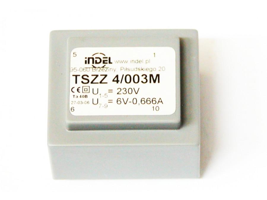 TRANSFORMATOR TSZZ 4/003M 6V-0,666A TSZZ 4/003M